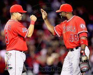Los Angeles Angels - Torii Hunter, Kendrys Morales Photo