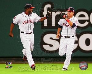 Los Angeles Angels - Torii Hunter, Mike Trout Photo