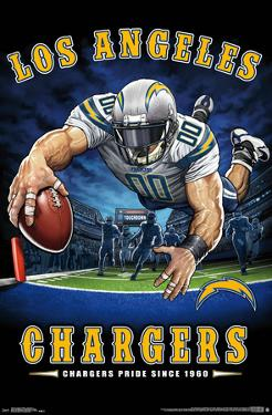 LOS ANGELES CHARGERS - END ZONE 17