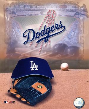 Los Angeles Dodgers - '05 Logo / Cap and Glove