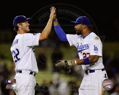 Los Angeles Dodgers - Clayton Kershaw, Matt Kemp Photo