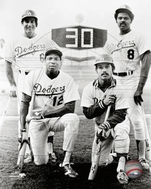 Los Angeles Dodgers - Dusty Baker, Steve Garvey, Reggie Smith, Ron Cey Photo