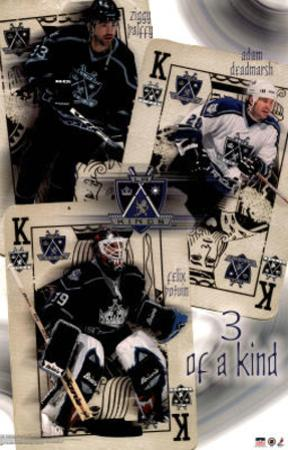 Los Angeles Kings 3 of a Kind Sports Poster Print