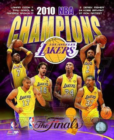Los Angeles Lakers 2009-10 NBA Champions Composite