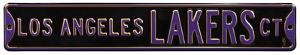 Los Angeles Lakers Ct Black Steel Sign