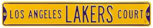 Los Angeles Lakers Ct Steel Sign