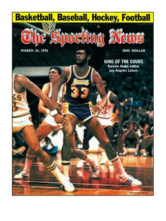 Los Angeles Lakers' Kareem Abdul-Jabbar - March 25, 1978