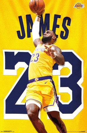 LOS ANGELES LAKERS - L JAMES ACTION 18