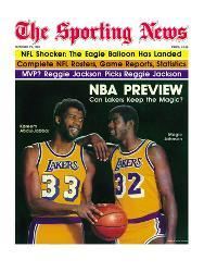 44dea999a07 Los Angeles Lakers Magic Johnson and Kareem Abdul-Jabbar - October 11