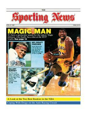 Los Angeles Lakers' Magic Johnson - April 27, 1987