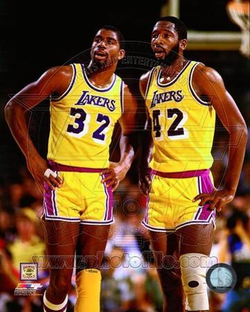 Los Angeles Lakers - Magic Johnson, James Worthy Photo