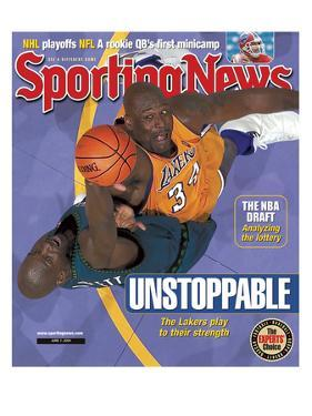 Los Angeles Lakers' Shaquille O'Neal and Minnesota Timberwolves' Kevin Garnett - June 7, 2004