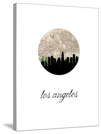 Los Angeles Map Skyline by Paperfinch 0
