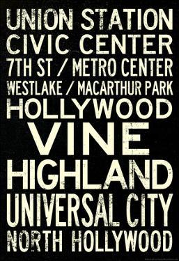 Los Angeles Metro Rail Stations Travel Poster