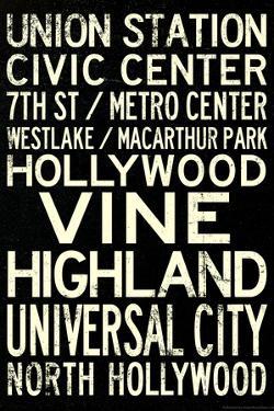Los Angeles Metro Rail Stations Vintage Subway RetroMetro Travel