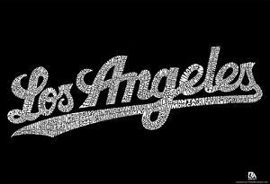 Los Angeles Neighborhoods Text Poster