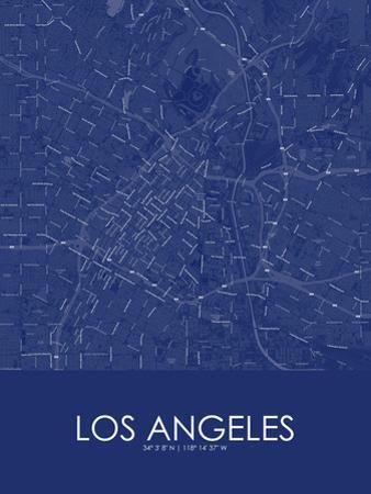 Los Angeles, United States of America Blue Map
