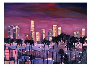 Los Angelese Golden Skyline 3 by M Bleichner
