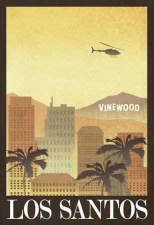 Los Santos Retro Travel Poster