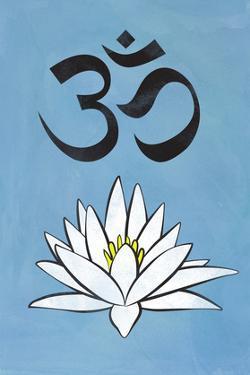 Lotus Meditation AUM Blue