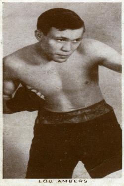 Lou Ambers, American Boxer, 1938