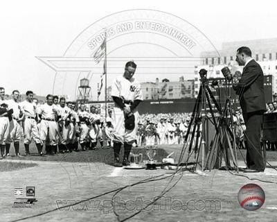 Lou Gehrig - Farewell #2 (Horizontal)
