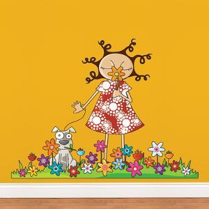 Lou in Flowers Wall Decal