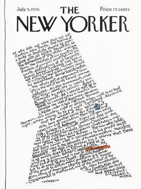 The New Yorker Cover - July 5, 1976 by Lou Myers