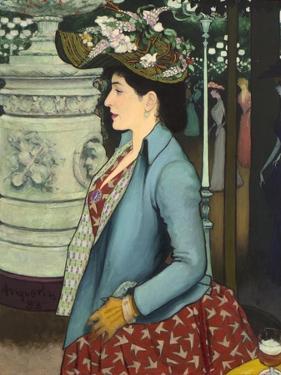 An Elegant Woman at the Élysée Montmartre (Élégante À L'Élysée Montmartre), 1888 by Louis Anquetin