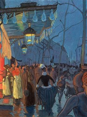 Avenue De Clichy, Paris, 1887 by Louis Anquetin