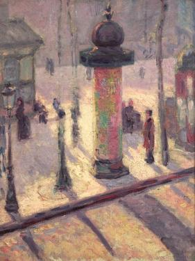 Kiosk on the Boulevard Clichy, 1886-7 by Louis Anquetin