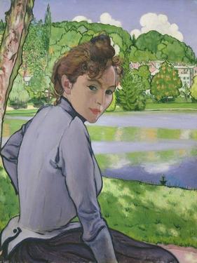 Woman Beside a Lake, 1889 by Louis Anquetin