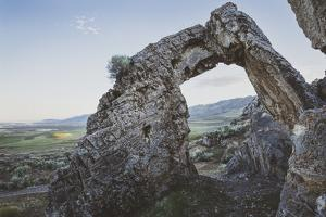 A Natural Limestone Arch Near The Golden Spike National Historic Site Was Named Chinese Arch by Louis Arevalo