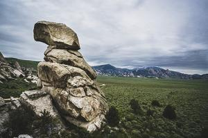 A Rock Formation In The City Of Rocks National Reserve, Idaho by Louis Arevalo
