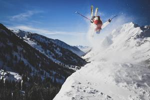 Austin Birrer Gets Loose At Alta, Utah With A Back Flip by Louis Arevalo