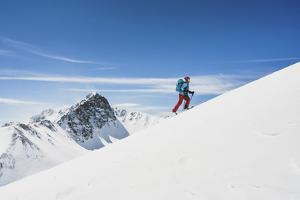 Averill Doering Ski Tours Near The Opus Hut, San Juan Range, Colorado by Louis Arevalo