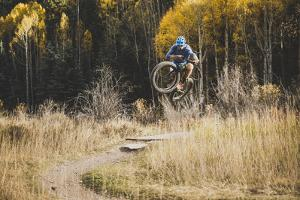 Axel Brunst Riding The Valley Floor Trail, Fatbiking In Telluride, Colorado by Louis Arevalo