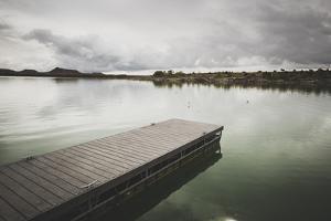 Boat Dock At Millsite Reservoir, Millsite State Park, Utah by Louis Arevalo