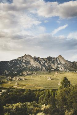 Circle Creek Basin With Granite Mt And Steinfell's Dome On The Horizon, City Of Rocks NR, Idaho by Louis Arevalo
