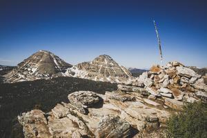 From S Point Of Scout Peak, Mt Baldy & Reids Peak In The Bkgd, Lofty Lake Loop, Uinta Mts, Utah by Louis Arevalo