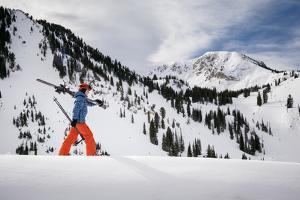 Fynn White At Alta Ski Area March 2014 by Louis Arevalo