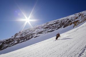 Jacki Arevalo Skiing Seduction Drainage At Icefall Lodge, February 2014 by Louis Arevalo