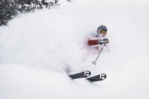 "Ka Pow! ""Face Shot"" Chris Smith Lost In Winter Wonder Land, Wasatch Range, Utah by Louis Arevalo"