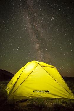 Milkyway Above Easton Rimrock 2P Tent, Hyndman Basin, Pioneer Mountains, Near Sun Valley, Idaho by Louis Arevalo
