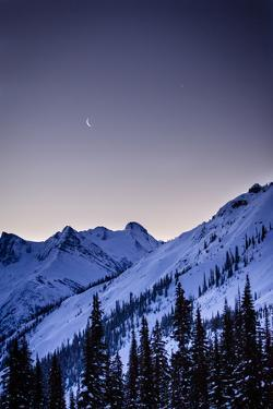 Morning Twilight, Icefall Lodge, BC, February 2014 by Louis Arevalo