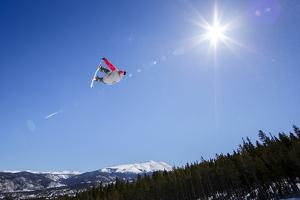 Ricky Bates Riding The Park At Breckenridge Mountain, Colorado, March 2014 by Louis Arevalo