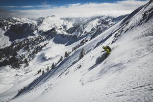 Rob Lea Backcountry Skiing Cardiac Bowl, Wasatch Mountains, Utah by Louis Arevalo