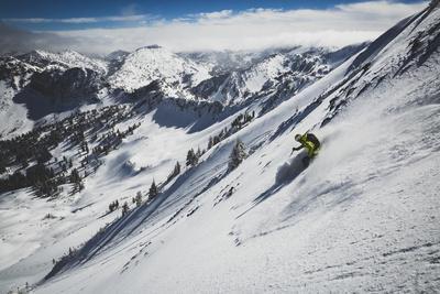 Rob Lea Backcountry Skiing Cardiac Bowl, Wasatch Mountains, Utah