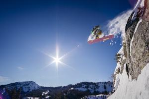 Sean Skiing Brighton Ski Area, Wasatch Mountains Utah by Louis Arevalo