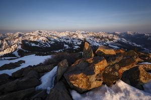 Sunrise From Clayton Peak, Wasatch Mountains, Utah by Louis Arevalo